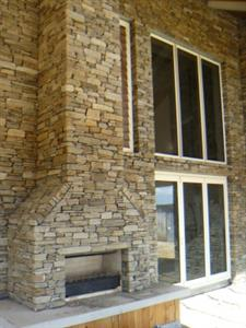 Hyde schist fireplace