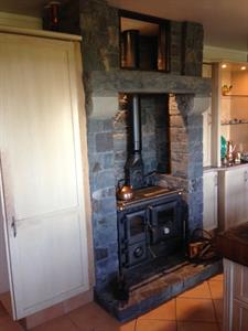 Kaimai stone traditional fireplace