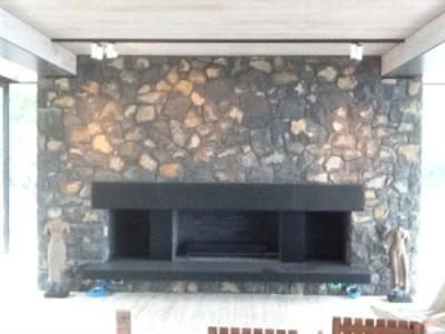 Matatoki stone fireplace