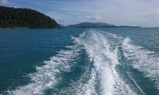Leaving Shute Harbour behind - Southern Explorer