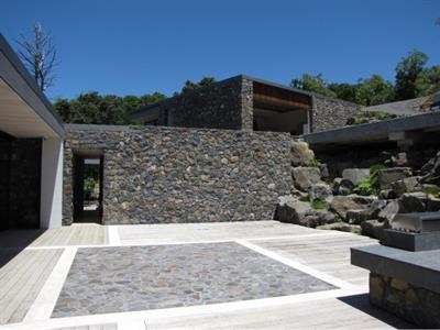 New home using Matatoki stone, court yard