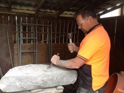 Paul Gautron cutting cills A World of Stone