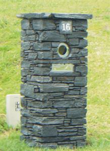 Waitaha West Coast Schist Letter Box