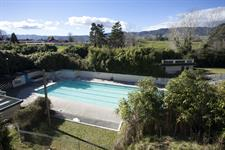 birds eye of our lanes pool Opal Hot Springs & Holiday Park