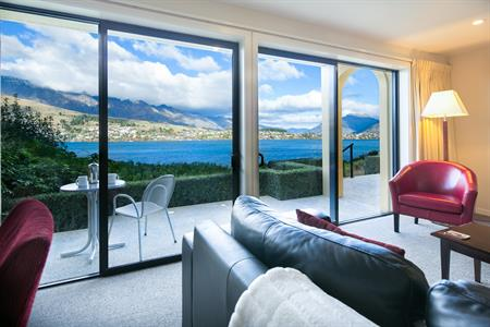 View of Lake Wakatipu from our One Bedroom Suites
