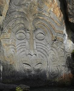 Maori Rock Carving