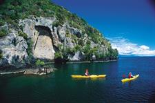 Maori Rock Carvings and Kayaking