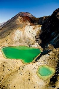 Emerald Lakes on the Tongariro Alpine Crossing, Ru