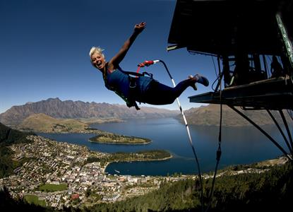 Bungy Jumping With Views of Lake-Wakatipu, Queenst