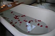Romantic Roll top baths Charlemagne Lodge