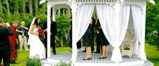 Wedding gazebo Charlemagne Lodge