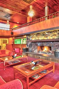 Lounge with fire