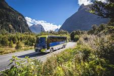 Real Journeys coach – Milford Road, Fiordland Real Journeys
