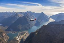 Flying in to Milford Sound, Fiordland Real Journeys