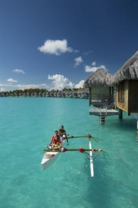 h - St Regis Bora Bora Resort - canoe delivered br