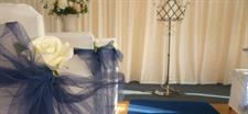 Indoor Ceremony Area setup Charlemagne Lodge