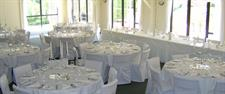 White wedding setup Charlemagne Lodge