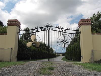 Driveway custom gates F Iron Design