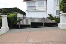 Driveway sliding  gate 389 Iron Design