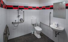 Wheelchair accessible toilet/shower room