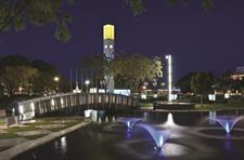The Square at night courtesy of Palmerston North City Council