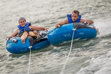 Outdoor fun on ski biscuit