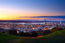 Evening view of Auckland city from Kingsland