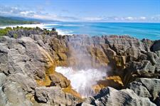 Pancake Rocks and Blow Holes at Punakaiki, West Coast