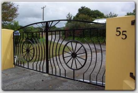 Driveway gate 308 Iron Design