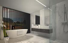 Villa bathroom The Lodge at Kinloch