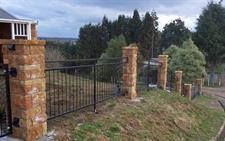 Fencing -panels between pillars Iron Design