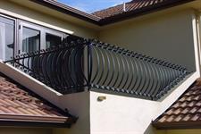 bowed balustrade #109-3 Iron Design