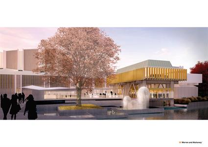 Christchurch Town Hall render