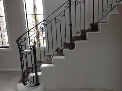 Balustrade style 036 showing return