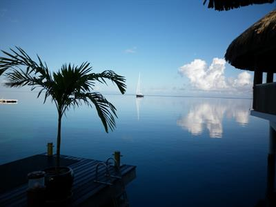 a - Royal Huahine -  from the lagoon