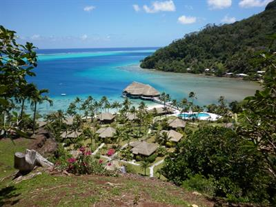 a - Royal Huahine -  from the top of the hill