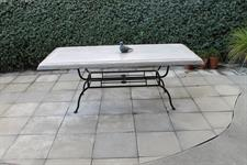 Table: Boston base Cabana concrete top