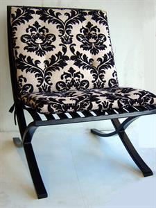 Seating: Barcelona chair Iron Design