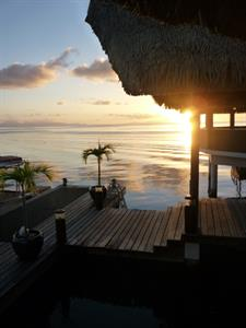 a - Royal Huahine -  sunset