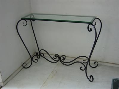 Hall table # 8 Bordeaux Iron Design