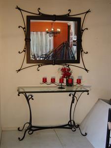 Hall Table #1 & Matching flat bar mirror Iron Design