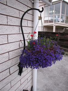outdoor basket bracket