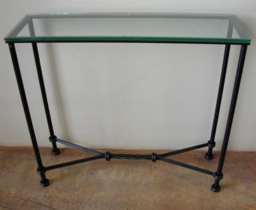 Hall table #4  New Orleans twist Iron Design