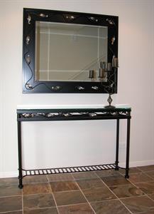 Hall table #5 Renaissance  with mirror Iron Design