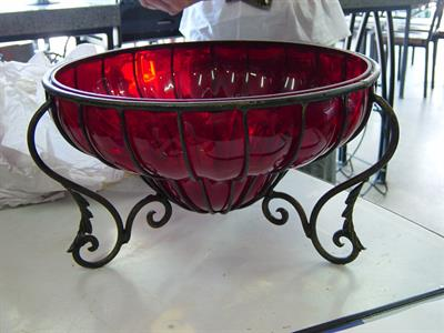 Custom stand for decorative bowl