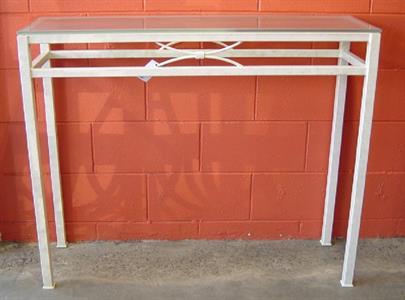 Hall table #2 White leather Iron Design