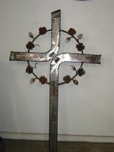 custom memorial cross Iron Design