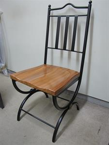Seating: indoor Tuscany with rimu seat Iron Design