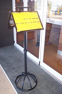 custom menu stand #2 Iron Design