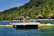 d - Royal Huahine -  pontoon for the kayaks and ou